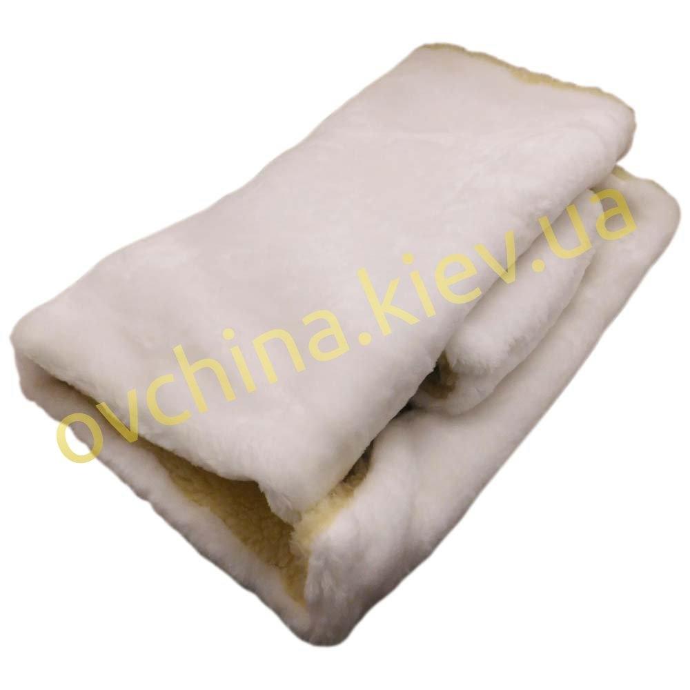 Накидка на сиденье автомобиля из натурального меха овчины (мутона) белоснежная - 2