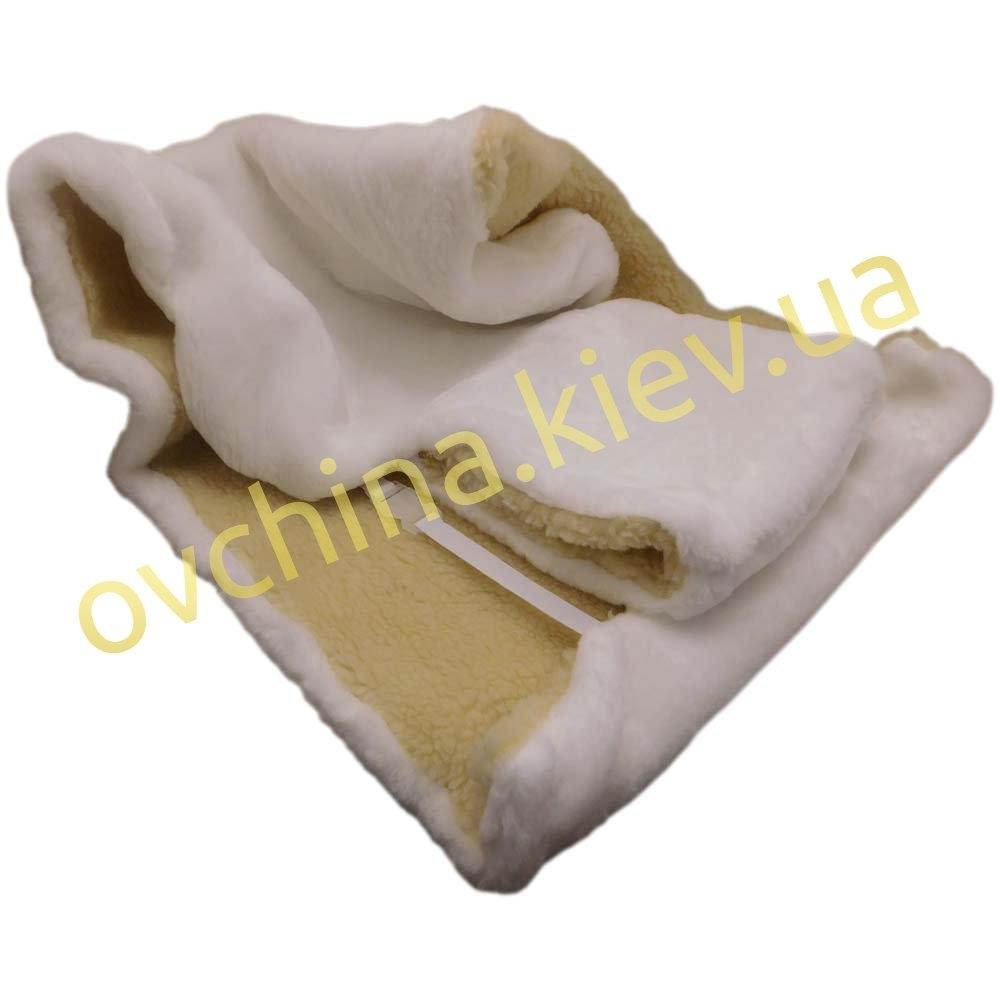 Накидка на сиденье автомобиля из натурального меха овчины (мутона) белоснежная - 1