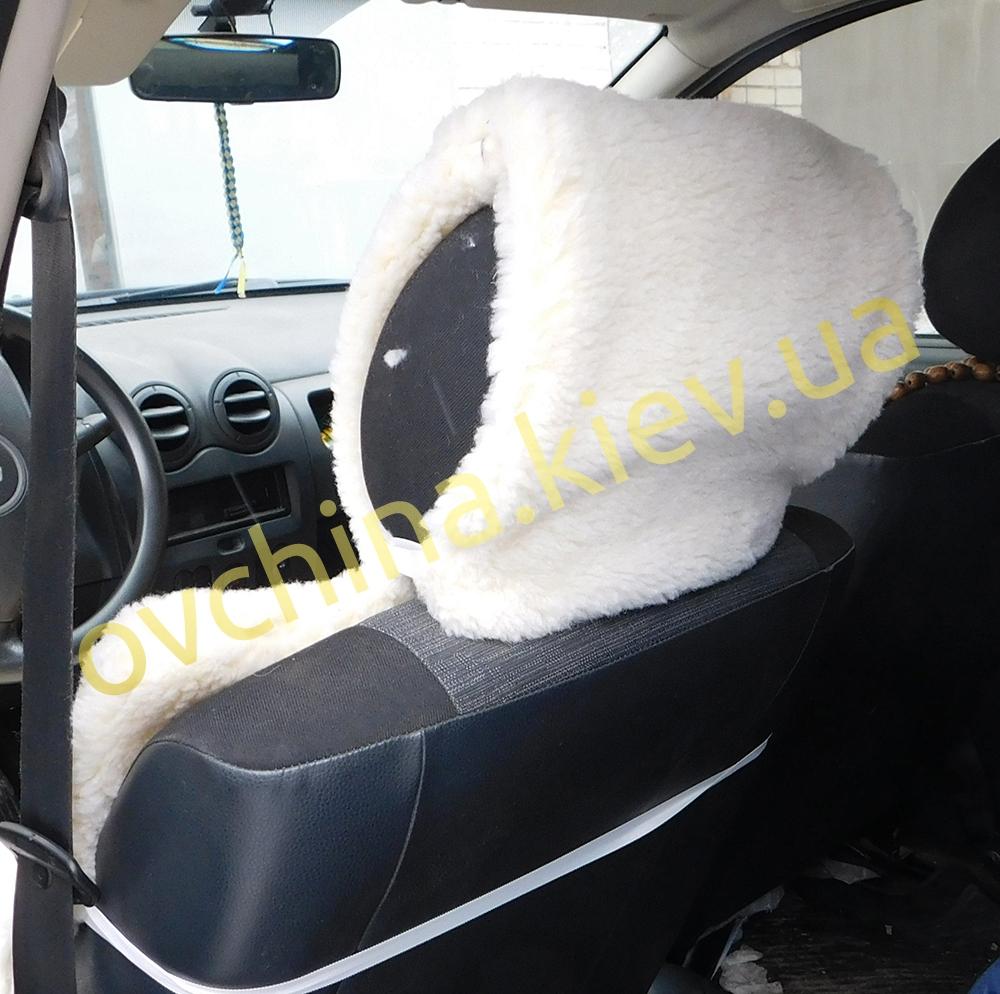 Накидка на сиденье автомобиля из натурального меха овчины (мутона) неокрашенная - 2