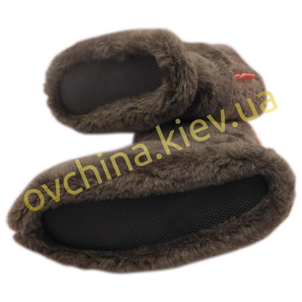 Чуни женские коричневые из шерсти мериносовой овчины /шоколад/ - 2