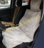 Накидка на сиденье автомобиля из натурального меха овчины (мутона) Пепельная