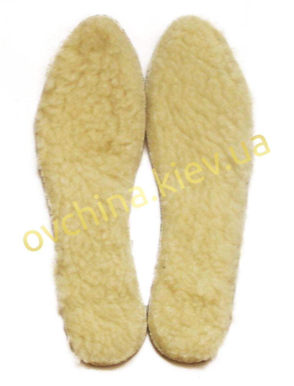 Стельки зимние мужские с овечьей шерстью и войлоком - 1