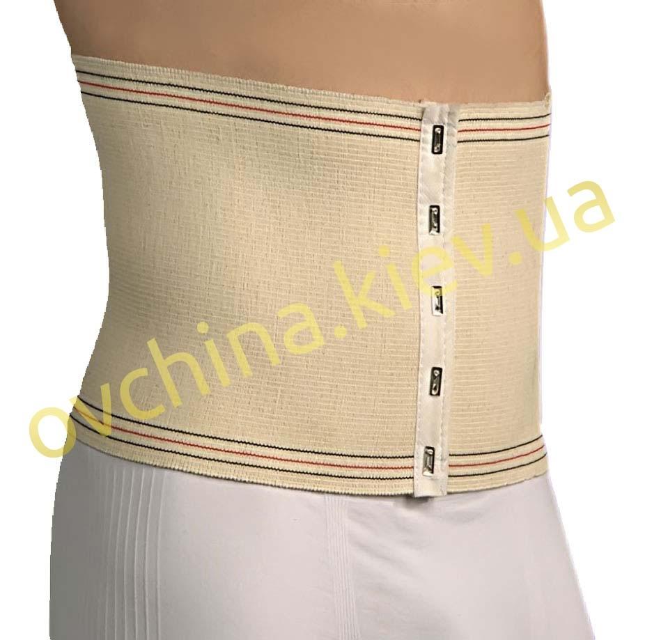 Шерстяной пояс бандаж корсет ортопедический на крючках (послеродовой / послеоперационный) - 3