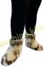 Чуни женские из шерсти мериносовой овчины с узором «Олени» /вариант 2/  - 2