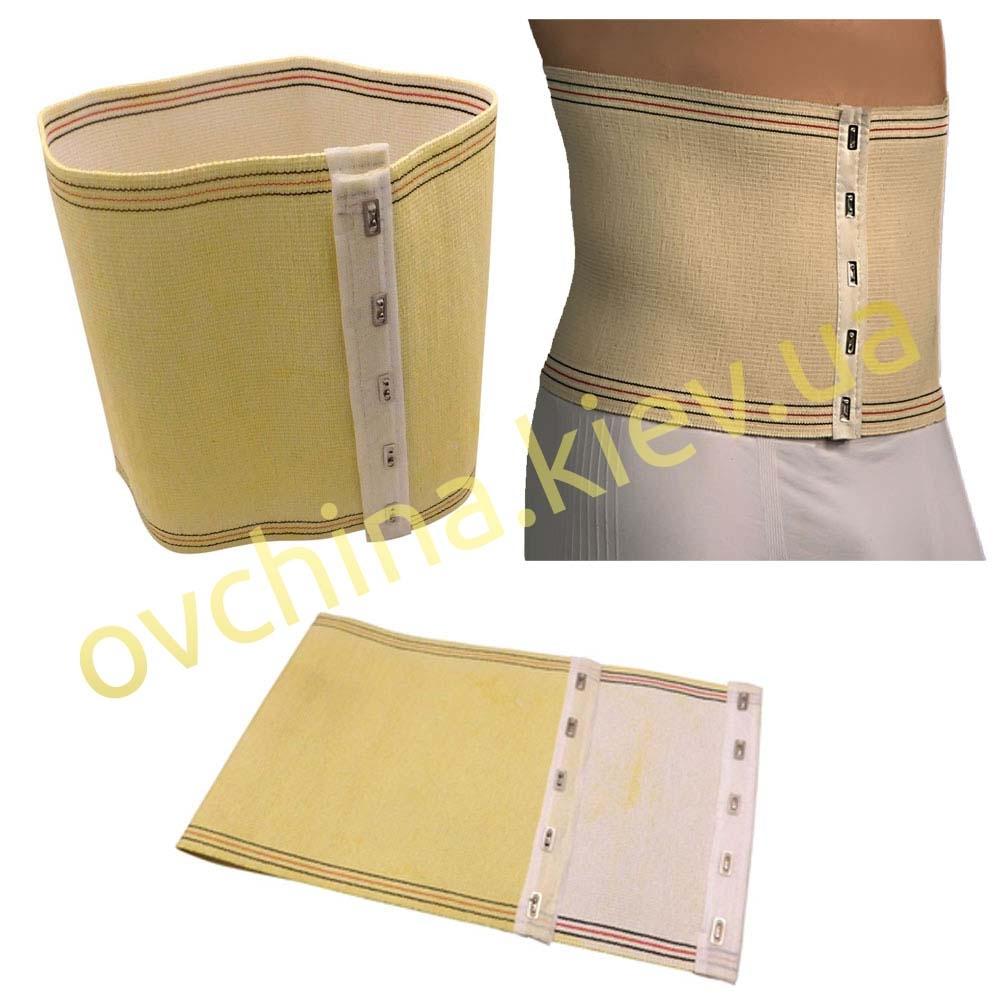 Шерстяной пояс бандаж корсет ортопедический на крючках (послеродовой / послеоперационный)